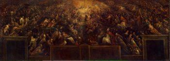 Resurrection of the Righteous (Heaven)   Bassano Francesco (Francesco da Ponte)   oil painting