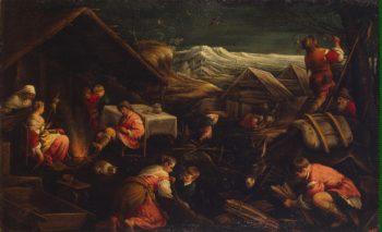 Winter   Bassano Francesco (Francesco da Ponte)   oil painting