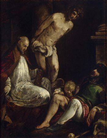 St Fabian St Sebastian and St Roch | Bassano Jacopo (Jacopo da Ponte) | oil painting