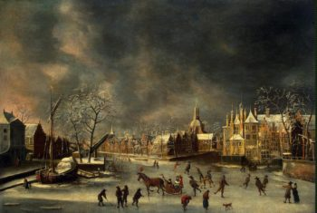 Winter View of Leyden | Beerstraten Abraham | oil painting