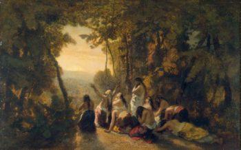 Lament of Jephthahs Daughter   Diaz de la Pena Narcisse   oil painting