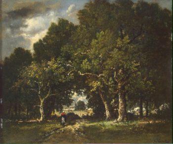 Road in the Wood   Diaz de la Pena Narcisse   oil painting
