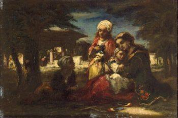 Turkish Family | Diaz de la Pena Narcisse | oil painting