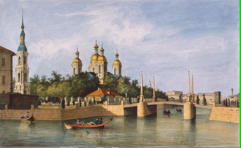 View of the Cathedral of St Nicholas | Perrot Ferdinand-Victor | oil painting