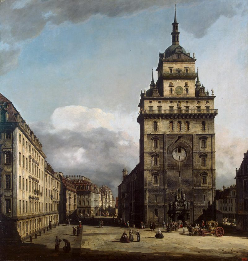 Square with the Kreuz Kirche in Dresden | Bellotto Bernardo | oil painting