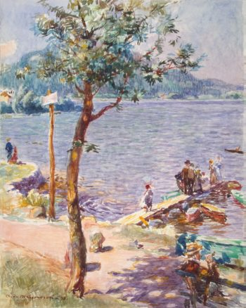 View of a Lake | Dombasle Meixmoron Charles de | oil painting