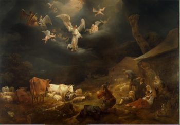 Annunciation to the Shepherds | Berchem Nicolaes Pietersz | oil painting