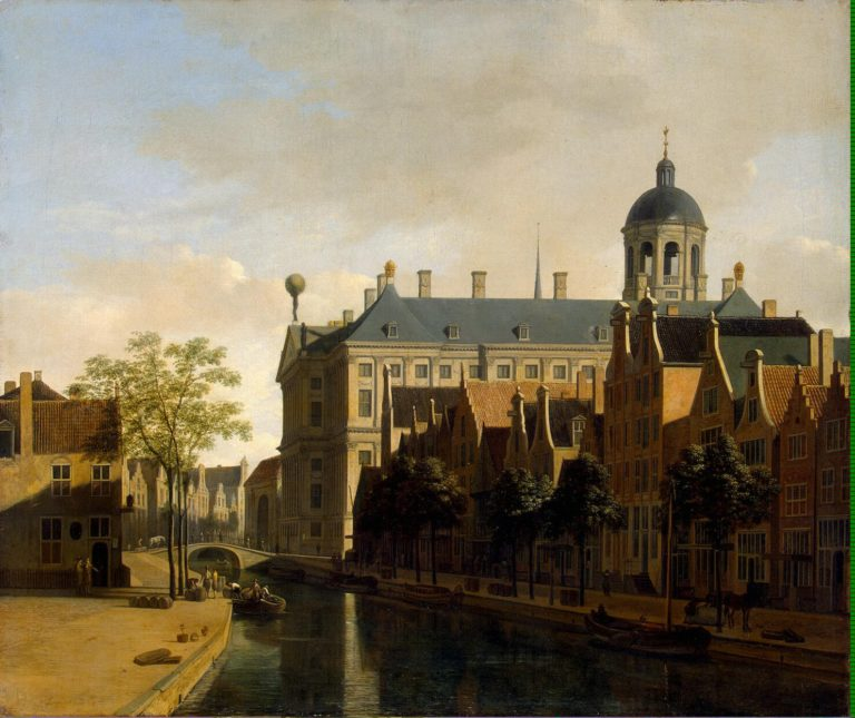 View of the Town Hall in Amsterdam | Berckheyde Gerrit Adriaensz | oil painting