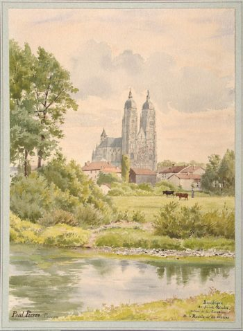 View of the Basilica of St Nicholas | Pierre Paul | oil painting