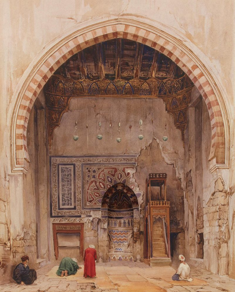 Interior View of a Mosque in Cairo | Pierron Charles | oil painting
