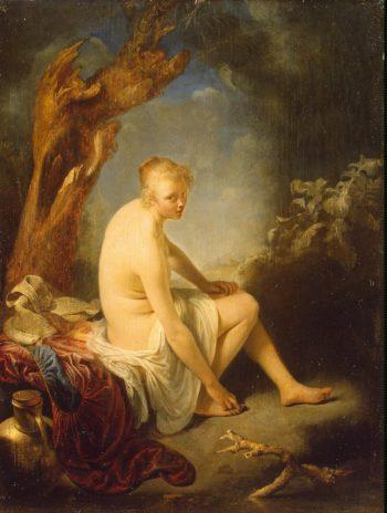 Woman Bather   Dou Gerard   oil painting