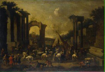 Horsemen among the Ruins | Douw Simon Johanes van | oil painting