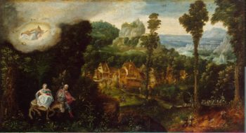 Landscape with Flight into Egypt | Bles Herri Met de | oil painting