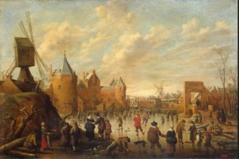 Winter in a Dutch Town | Droochsloot Jost Cornelisz | oil painting