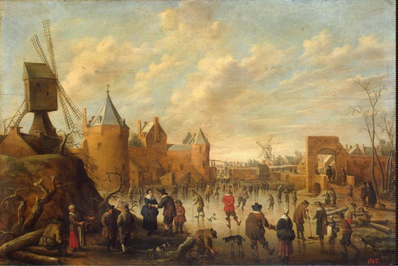 Winter in a Dutch Town | Droochsloot Jost Cornelisz | oil painting
