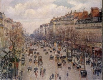 Boulevard Monmartre in Paris | Pissarro Camille | oil painting