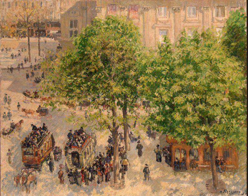 Place du Theatre-Francais. Spring   Pissarro Camille   oil painting