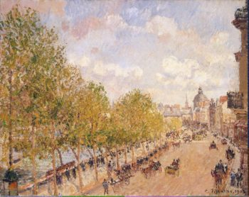 Quai Malaquais Sunny Afternoon | Pissarro Camille | oil painting