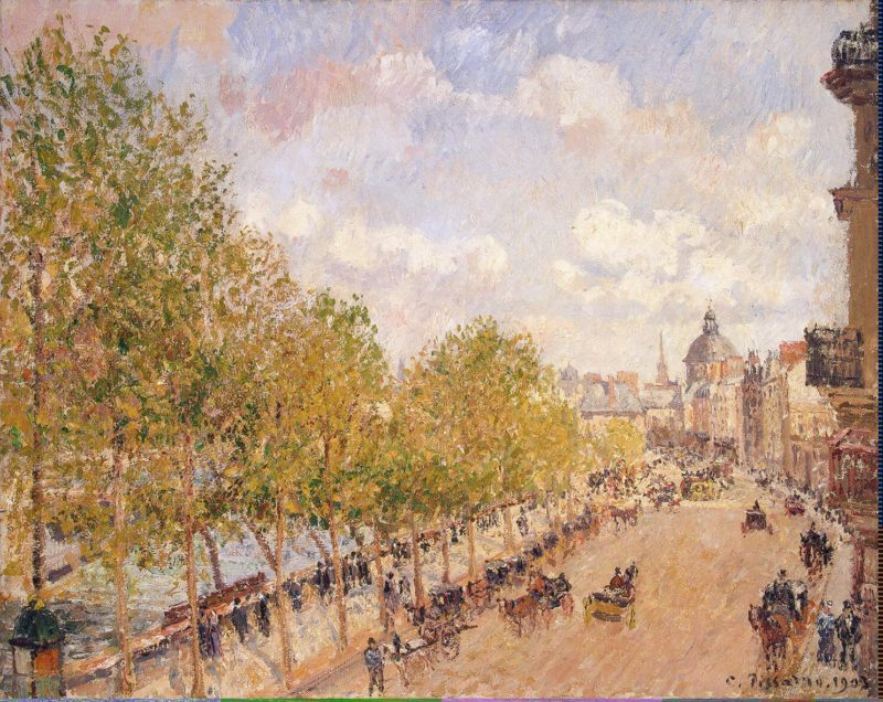 Quai Malaquais Sunny Afternoon   Pissarro Camille   oil painting