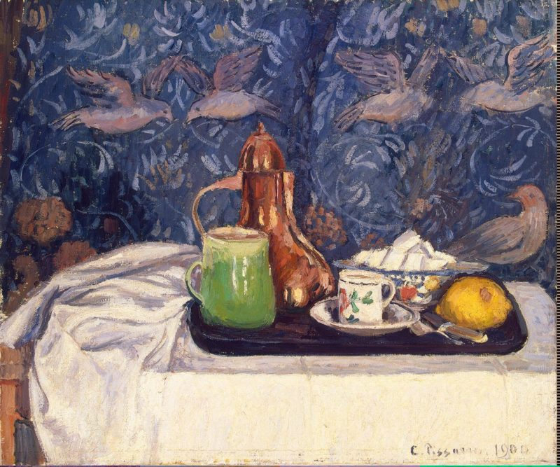 Still Life with a Coffeepot | Pissarro Camille | oil painting