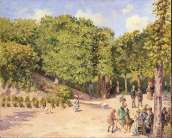 Town Park in Pontoise | Pissarro Camille | oil painting
