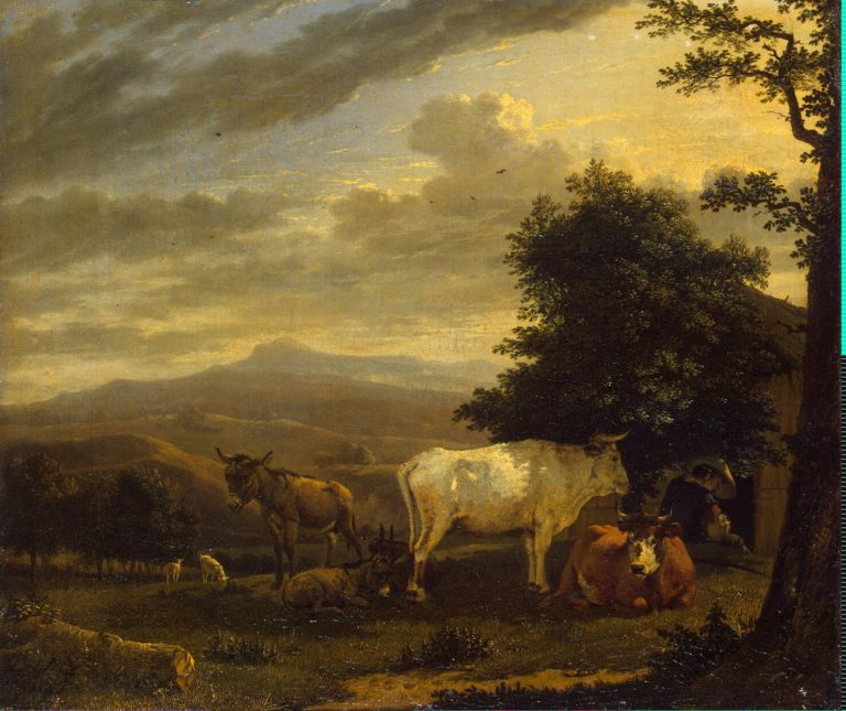 Landscape with Cattle | Dujardin Karel | oil painting