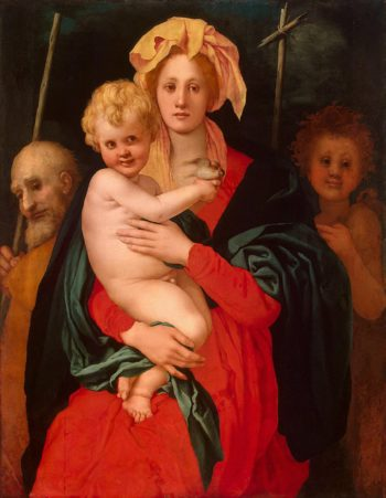 The Virgin and the Child with St Joseph and John the Baptist | Pontormo Jacopo Carucci (Carrucci) | oil painting