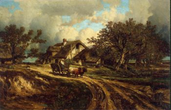 Village Landscape | Dupre Jules | oil painting