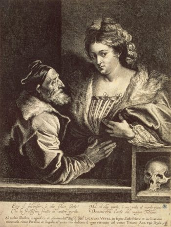 Titian and his Mistress | Dyck Anthony van (with the assistance of Lucas Vorsterman) | oil painting