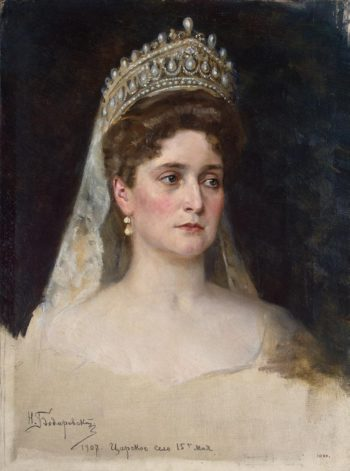 Portrait of Empress Alexandra Fyodorovna | Bodarevsky Nikolai Kornilyevich | oil painting