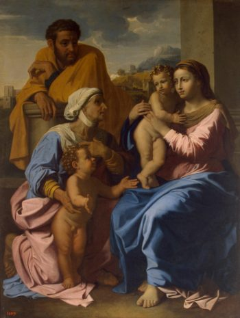 Holy Family with St Elizabeth and John the Baptist   Poussin Nicolas   oil painting