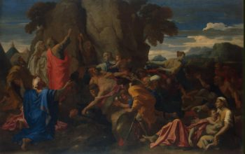 Moses Striking the Rock   Poussin Nicolas   oil painting