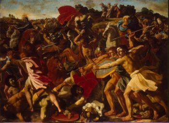Victory of Joshua over the Amalekites | Poussin Nicolas | oil painting