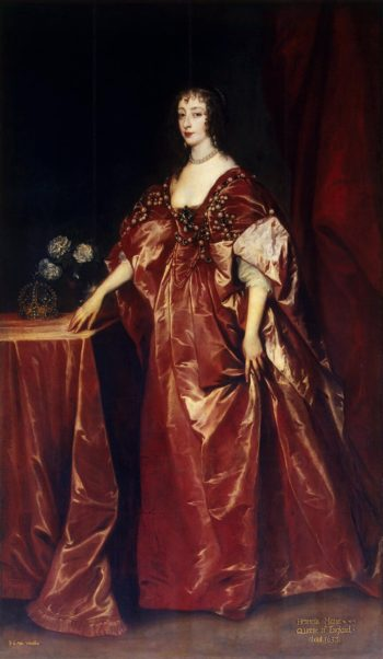 Portrait of Queen Henrietta-Maria | Anthony van Dyck | oil painting