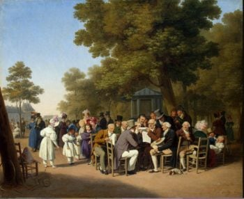 Politicians in the Tuileries Gardens | Boilly Louis-Leopold | oil painting