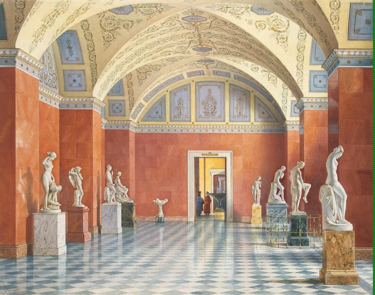 Interiors of the New Hermitage. The Room of Russian Sculpture   Premazzi Luigi   oil painting