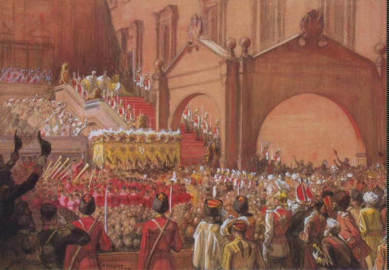 Emperor Nicholas II on the Red Porch after his Coronation | Edelfelt Albert (Gustaf Aristides) | oil painting