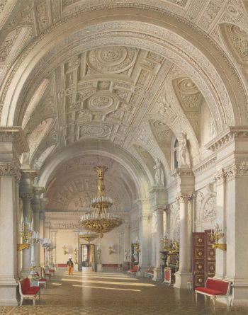 Interiors of the Winter Palace. The White Hall | Premazzi Luigi | oil painting