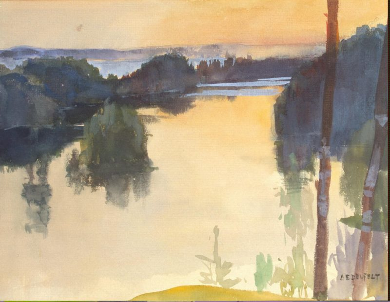 Landscape   Edelfelt Albert (Gustaf Aristides)   oil painting