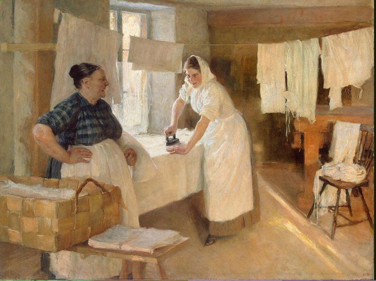 Laundresses | Edelfelt Albert (Gustaf Aristides) | oil painting