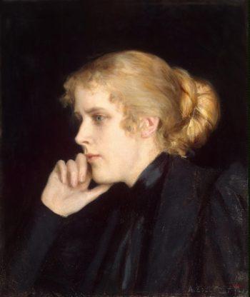 Portrait of M. V. Dyakovskaya-Geirot | Edelfelt Albert (Gustaf Aristides) | oil painting