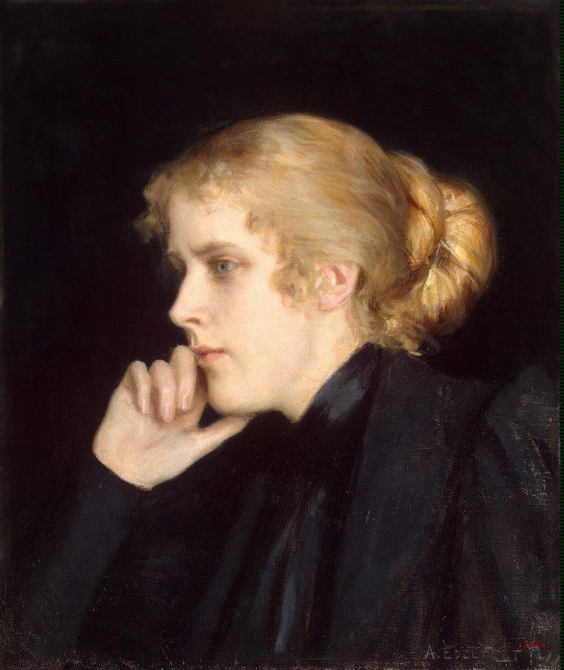 Portrait of M. V. Dyakovskaya-Geirot   Edelfelt Albert (Gustaf Aristides)   oil painting
