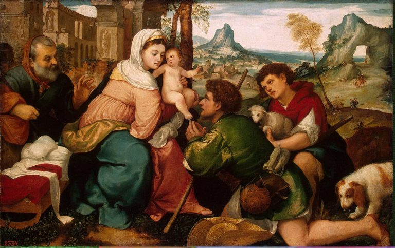 Adoration of the Shepherds | Bonifazio Veronese (Bonifazio de Pitati) | oil painting