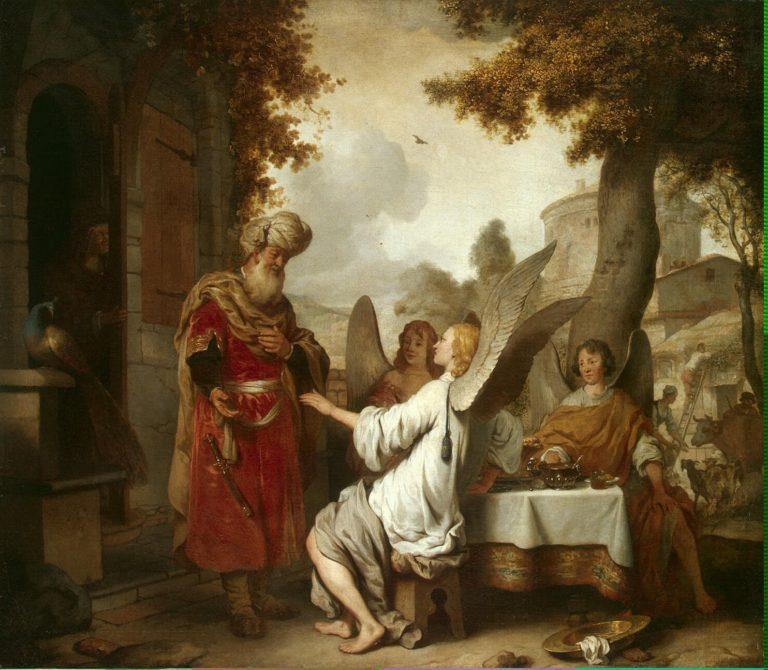 Abraham and the Three Angels | Eeckhout Gerbrandt Jansz van den | oil painting