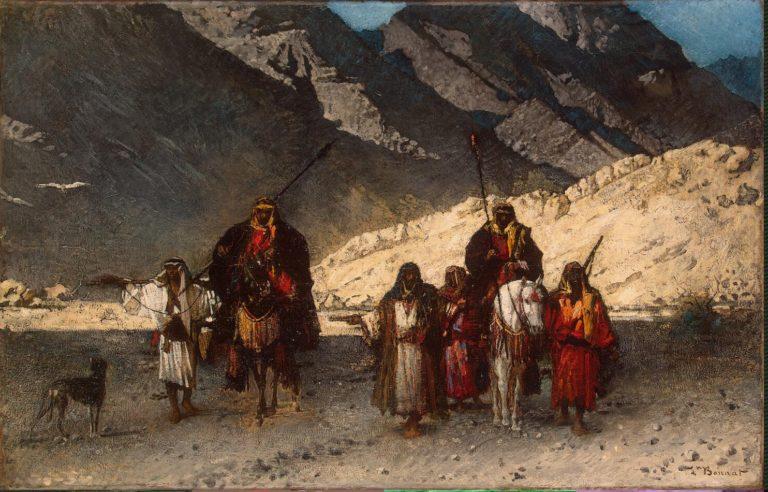 Arabian Sheikhs in the Mountains | Bonnat Leon Joseph Florentin | oil painting