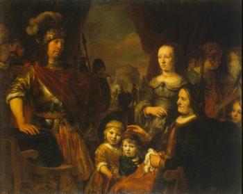 Coriolanuss Mother and Wife Begging Him to Spare Rome | Eeckhout Gerbrandt Jansz van den | oil painting