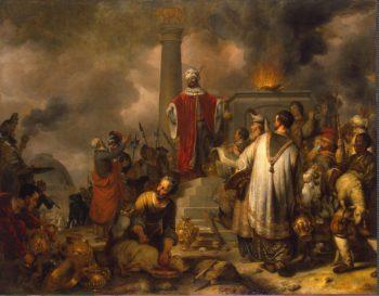 Jeroboams Sacrifice at Bethel | Eeckhout Gerbrandt Jansz van den | oil painting