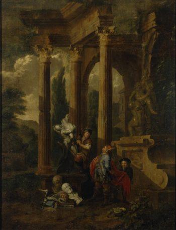 Visit to a Sculptor   Bossche (Bosch) Balthasar van den   oil painting