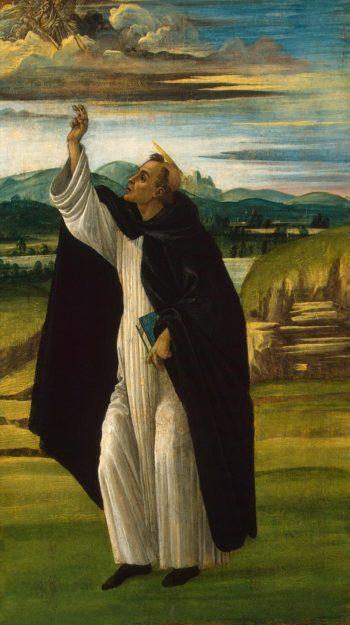 St Dominic | Botticelli Sandro (Alessandro da Mariano di Vanni di Amedeo Filipepi) | oil painting