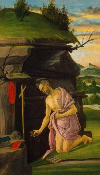St Jerome | Botticelli Sandro (Alessandro da Mariano di Vanni di Amedeo Filipepi) | oil painting